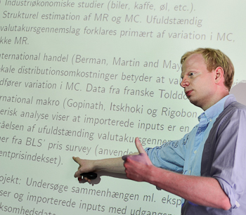 Prof. Rasmus Jørgensen, explains recent developments in the literature on exchange rate pass-through at the 2012 DAEiNA Meeting.